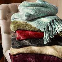 Rayon Chenille Throws Manufacturers