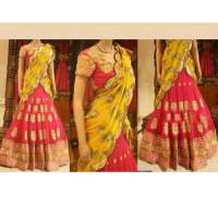 Embroidered Lehenga Saree Importers