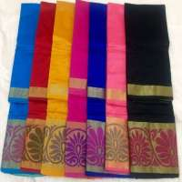 Chanderi丝绸棉纱丽 制造商