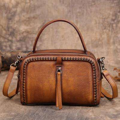 Handmade Brown Leather Bag Manufacturers