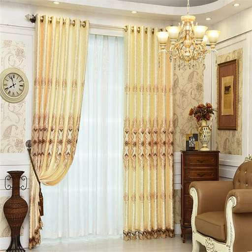 Satin Embroidery Curtain Manufacturers