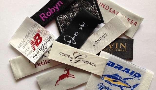 缎面服装标签 制造商