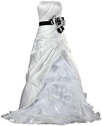 缎纱欧根纱结婚礼服 制造商
