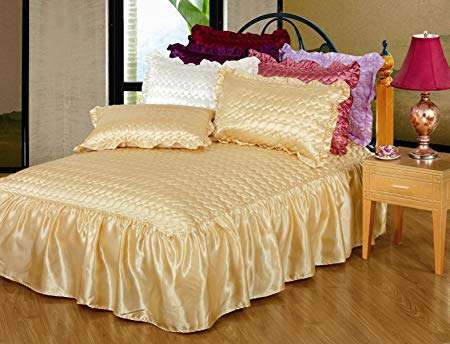 Satin Quilted Bedspread Manufacturers