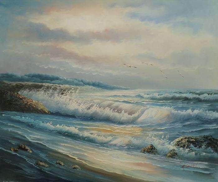 Seaside Oil Painting Manufacturers