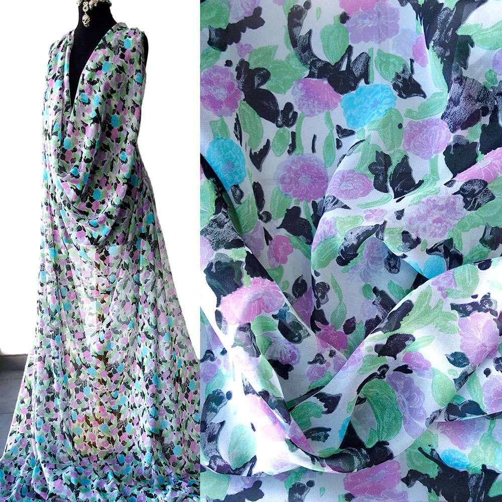 Silk Chiffon Print Fabric Manufacturers