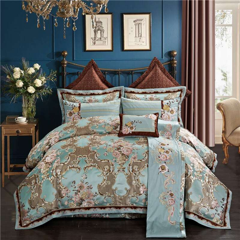 Silk Cotton Embroidered Bed Cover Manufacturers