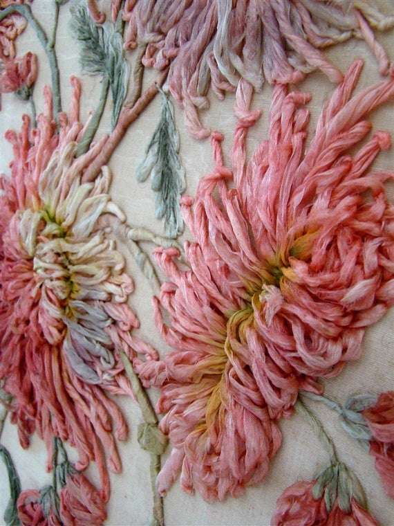 真丝绣花缎带 制造商
