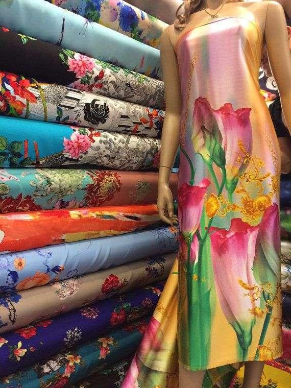 Silk Satin Printed Manufacturers