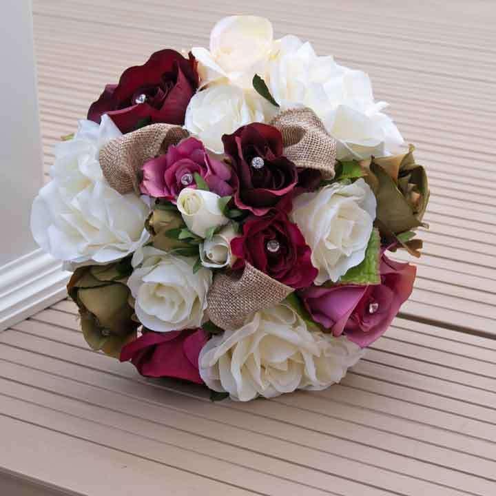 丝绸婚礼花 制造商