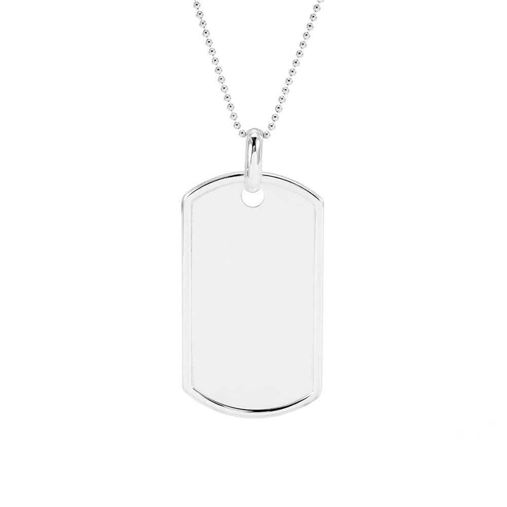 Silver Dog Tag Necklace Manufacturers