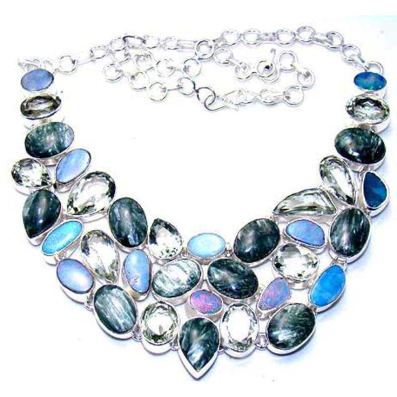 Silver Gemstone Necklace Manufacturers