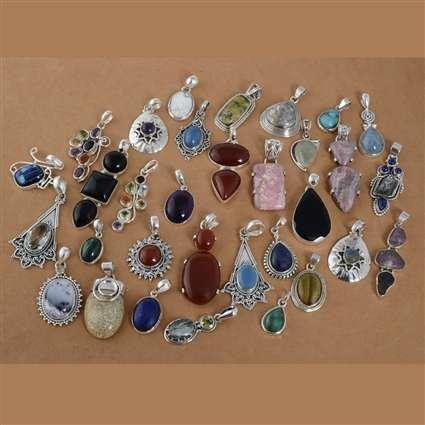 Silver Gemstone Pendant Lot Manufacturers