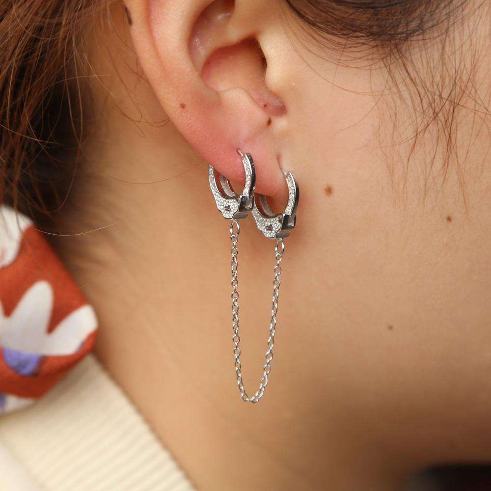 Silver Handcuff Earring Manufacturers