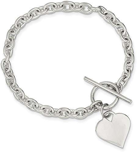 Silver Heart Toggle Bracelet Manufacturers