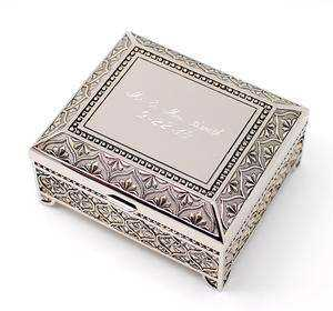 Silver Keepsake Jewelry Box Manufacturers
