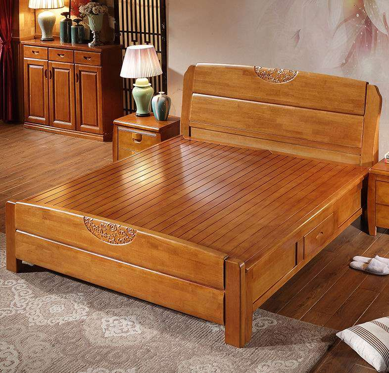 Solid Wood Hotel Bed Manufacturers