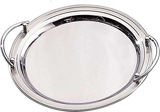 Stainless Steel Round Serving Tray Manufacturers