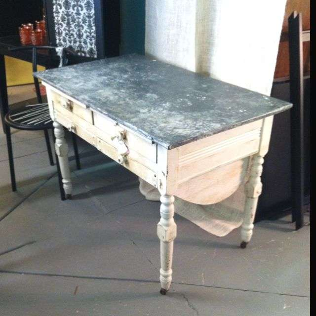 Zinc Top Table Antique Manufacturers