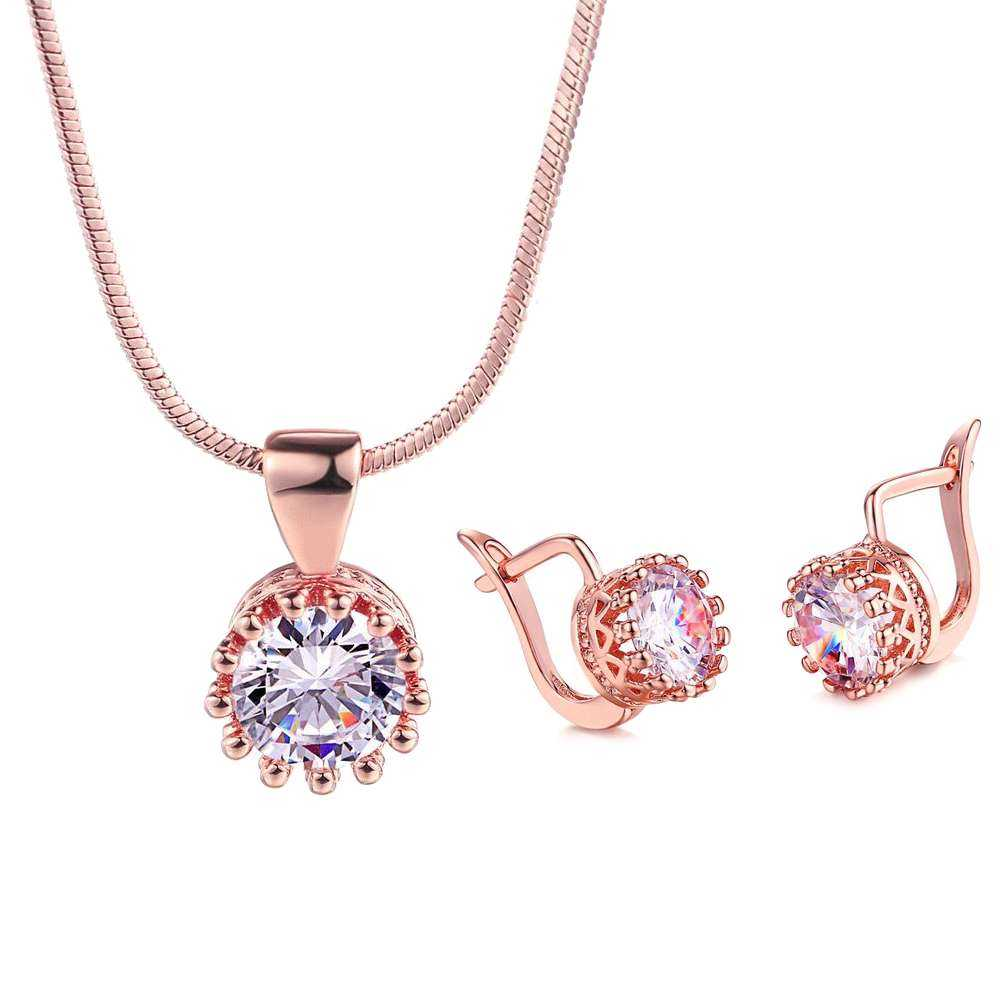 Zircon Pendant Necklace Set Manufacturers