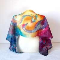手绘丝绸围巾 制造商