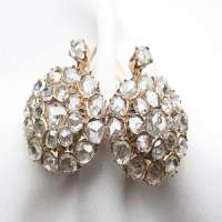 Rose Cut Diamond Earring Manufacturers