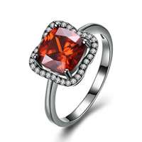 Red Cubic Zirconia Ring Manufacturers