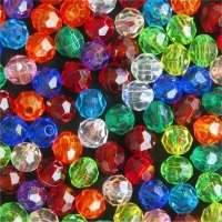 Multi Color Faceted Beads Importers