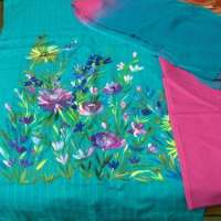Hand Painted Dress Material Importers