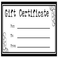 Gift Certificates Manufacturers