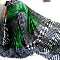 Hand Block Printed Silk Saree Manufacturers
