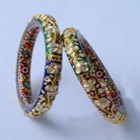 Diamond Polki Bangle Manufacturers