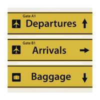 Airport Signs Manufacturers