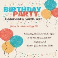 Birthday Invitation Card Manufacturers