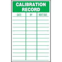 Calibration Labels Manufacturers