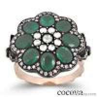 Grand Bazaar Jewelry 925 Sterling Silver Gold Ring Handmade