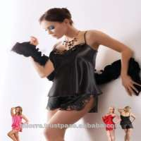 Miorre Black Satin Lingerie Shorts