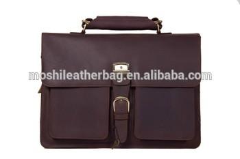 Guarantee Leather Vintage Briefcase Mens 1031