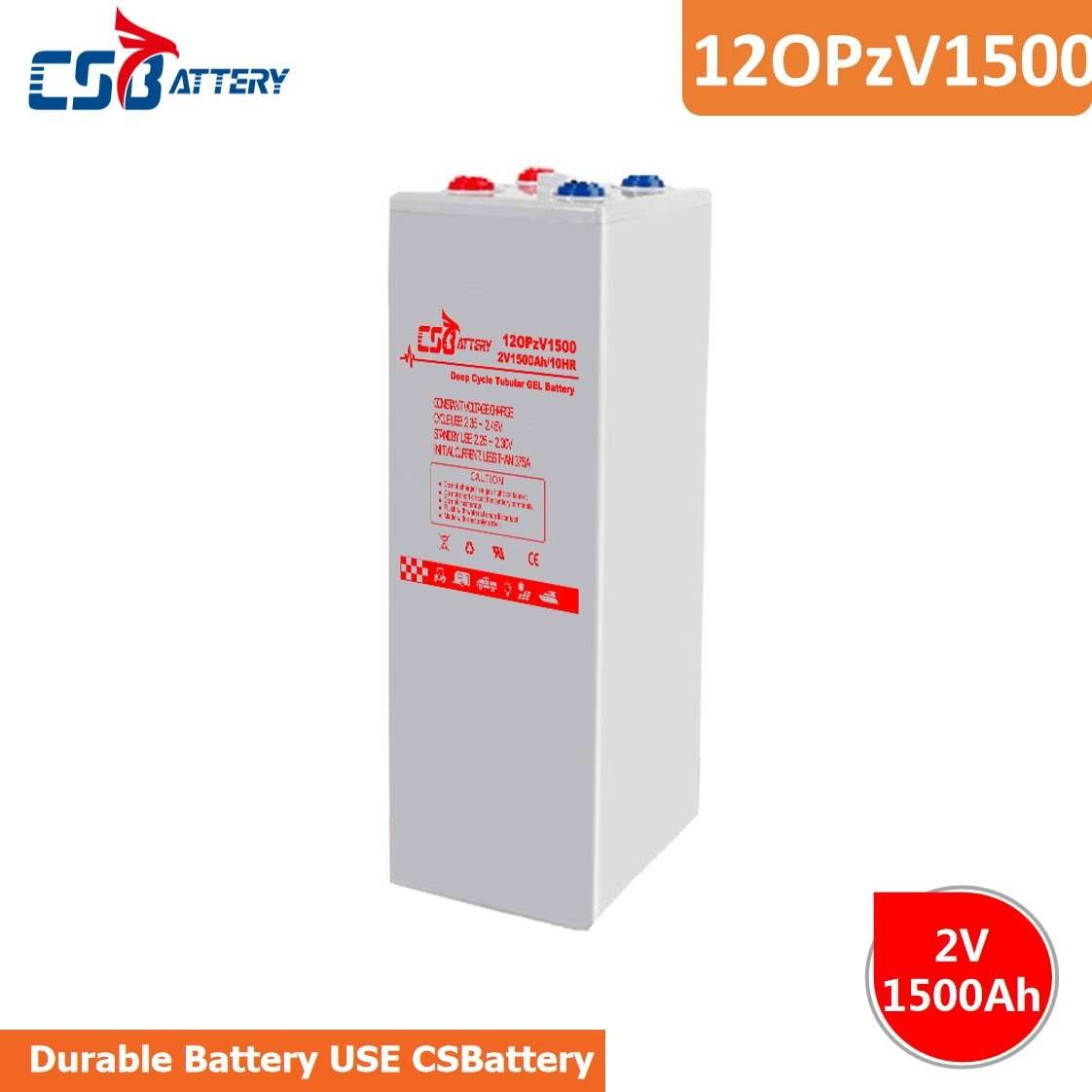 CSBattery 2V1500Ah Backup Energy Deep Cycle  Battery For Golf-Cars/Telecom/Railway/Electric-Scooter/Booster-Pumps