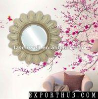 Sunflower Shape Wooden Mirror Frame Color