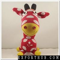 Handmade Stuffed Sock Animals Sock Giraffe