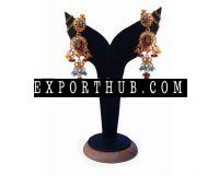 钻石波兰耳环
