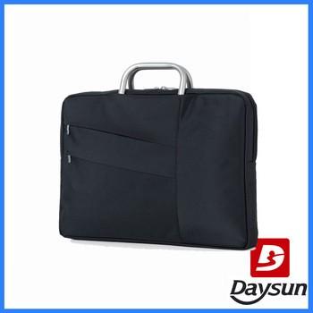 Men business laptop briefcase aluminum carry handle