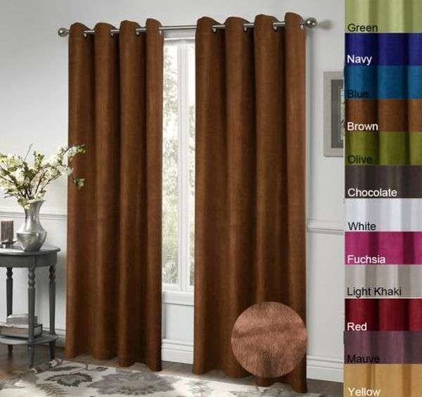Faux Suede Grommet Thick Window Curtain Ktexinter (DS016)