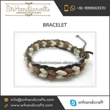 Wrapped Fashion Accessories Bead Leather Bracelet