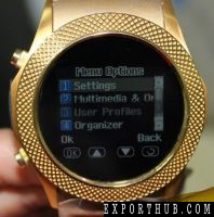 Gold Color Watch Phone Touch Screen