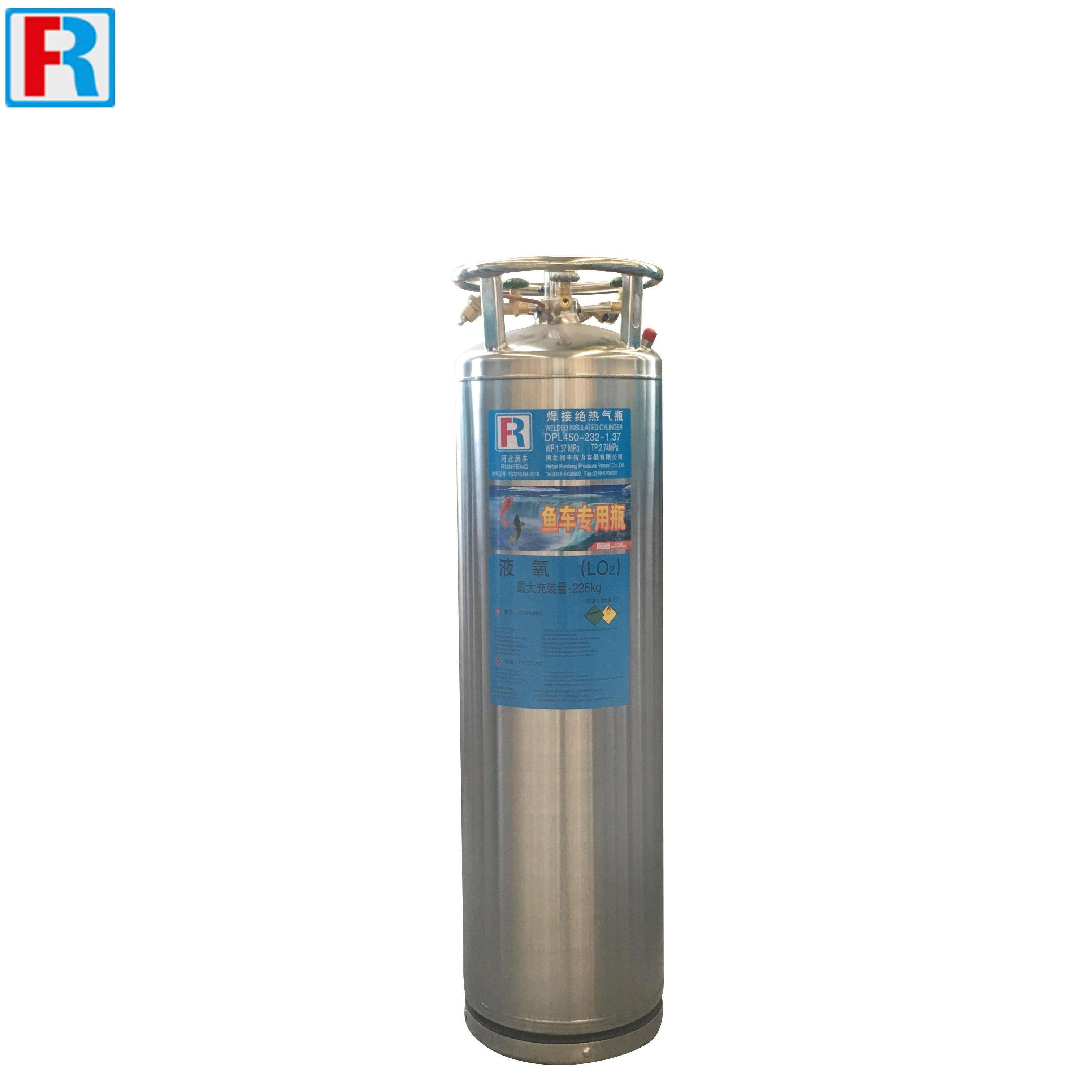 Fish tank, cryogenic LO2 cylinders 210L 232L
