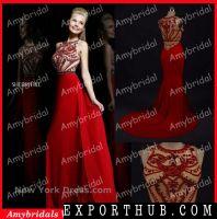 AM0640 Real Picture Off Shoulder Crystal Beaded Evening Dresse