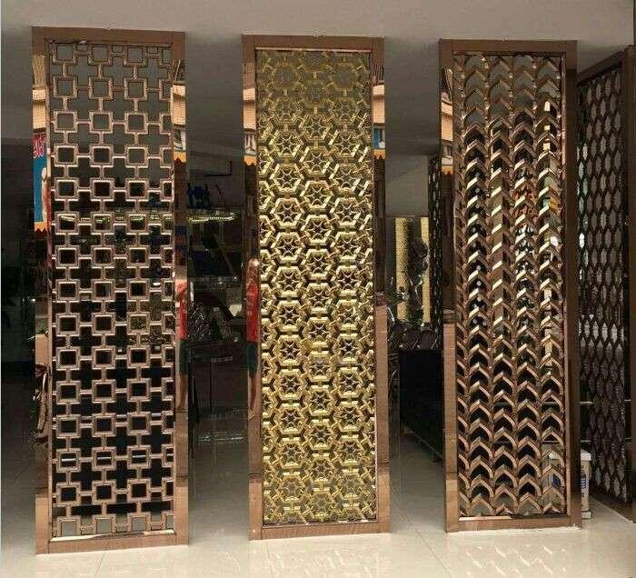 stainless steel metal screen room divider