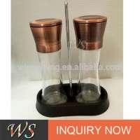 WSSH30S Copper Plating Salt And Pepper Grinder Set Adjust Creamic Core